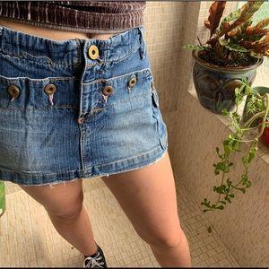 Levi's 13 jeans mini skirt vintage 2000 y2k denim